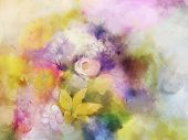 stock photo of daisy flower  - Vintage flowers painting - JPG