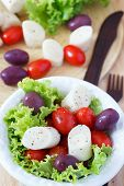 stock photo of hydroponics  - Cooking fresh salad of heart of palm  - JPG