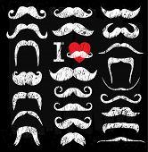 image of moustache  - Moustaches set - JPG