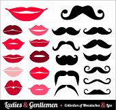 picture of  lips  - Collection of moustaches and lips - JPG