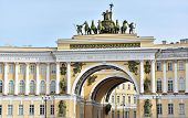 image of winter palace  - View of gate to Palace Square St - JPG