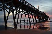 pic of atlantic ocean beach  - Surfside Beach South Carolina Pier over Atlantic Ocean  - JPG