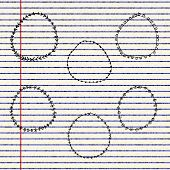 picture of divider  - Hand drawn illustration of dividers on a sheet of lined paper - JPG