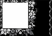 Quadro flor de fundo, elementos de Design