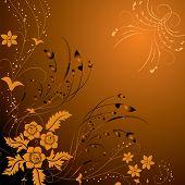 Fundo floral, elementos de Design, vetor