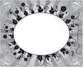 Elemento de Design, quadro de flor