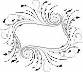 Quadro floral, elemento de Design, vetor