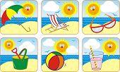 Icon Set Summer & Sun poster