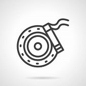 Постер, плакат: Brake disc simple line vector icon