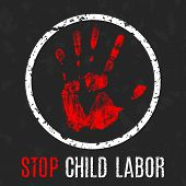 Stop Child Labor poster