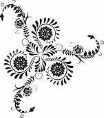 Elemento para Vector Design, flor do canto,