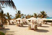 Praia do Hotel de luxo, Dubai, Emirados Árabes Unidos