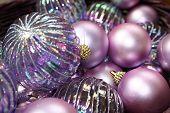 Purple Christmas Bulbs