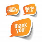 stock photo of thank you note  - Thank you  - JPG