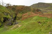 stock photo of ore lead  - odin mine where lead ore called galena was mined from roman times - JPG