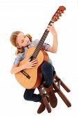 Adorable Guitar Girl
