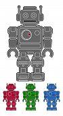 Retro vector robot
