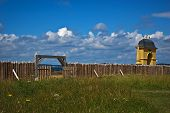 image of acadian  - louisbourg main entrance with the arch in view - JPG
