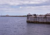stock photo of acadian  - an ocean scene in the fortress of louisbourg - JPG