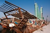 Traditional Arab Dhows.