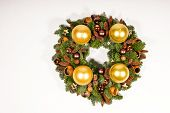 Gold advent wreath