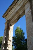 stock photo of epidavros  - big stone door at the ancient site of epidavros - JPG