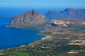 Gulf Of Bonagia (mount Cofanor) View From Erice, Sicily