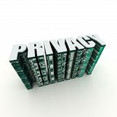 privacy 3-dimensional text