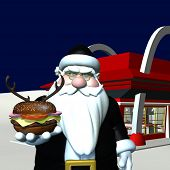 Santa In Black - Reindeer Burger 2