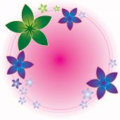 Flower Round Frame