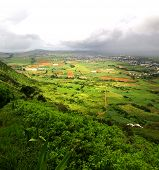 View from Le Pouce mountain in Mauritius