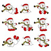 Cute Christmas Snowman Collection