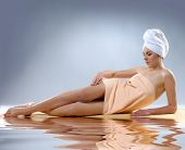 Young, healthy and beautiful woman getting spa treatment