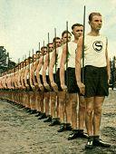 Nazi Schutzpolizei Beim Sport