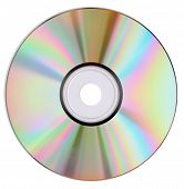 cd dvd isolated on white