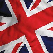 Close up of the British flag