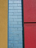 Colorful City - Brick And Concrete poster