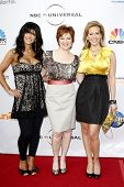 LOS ANGELES - MAY 12:  Teresa Giudice, Caroline Manzo and Dina Manzo at The Cable Show 2010