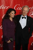PALM SPRINGS, CA - JAN 6:  Clint Eastwood, wife Dina Ruiz at the 2010 Palm Springs International Fil