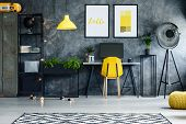 Contemporary Workspace With Posters poster