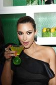 WEST HOLLYWOOD, CA - MAY 10: Kim Kardashian attends the Midori Melon Liqueur Trunk Show at Trousdale