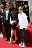LOS ANGELES - MAY 23: Simon Fuller, Victoria Beckham, Brooklyn Beckham at a ceremony where Simon Ful