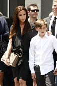 LOS ANGELES - MAY 23: Victoria Beckham, Brooklyn Beckham at a ceremony where Simon Fuller receives a