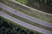 Red Car Aerial