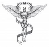 image of chiropractic  - Illustration  of a symbol used to represent chiropractors - JPG
