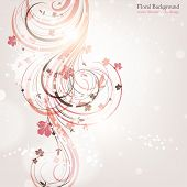 Hand Drawn floral background with flowers, greeting vector card for retro design. eps 10