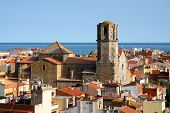 Old Town In Malgrat De Mar, Spain