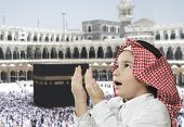 Muslim Arabic Kid praying