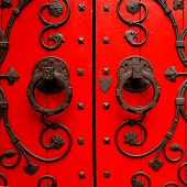Church Door Square Red