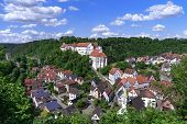 Townscape Of Haigerloch With Castle And Castle Church In Baden-wuerttemberg, Germany poster
